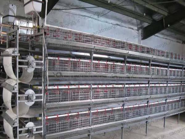 خرید قفس بلدرچین صنعت مرغ